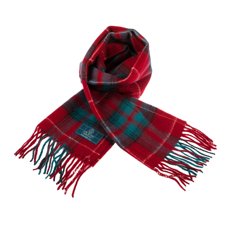 Clans Of Scotland Pure New Wool Scottish Tartan Scarf Stuart Of Bute