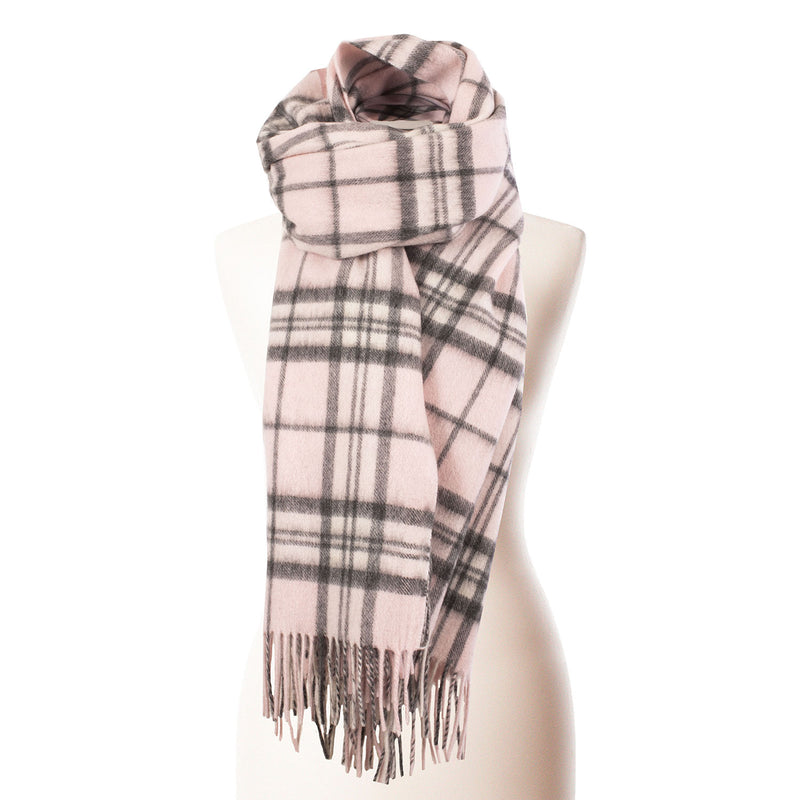 Edinburgh Lambswool Stole Thomson Pale Pink