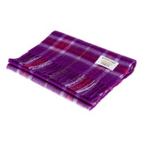 Edinburgh 100% Lambswool Tartan Scarf Thomson Purple