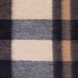 Edinburgh 100% Lambswool Tartan Scarf Bursted Check Neutral/Navy