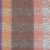 Edinburgh 100% Lambswool Scottish Tartan Multicolour Scarf Giant Chequer Dark Pink And Purple 2468