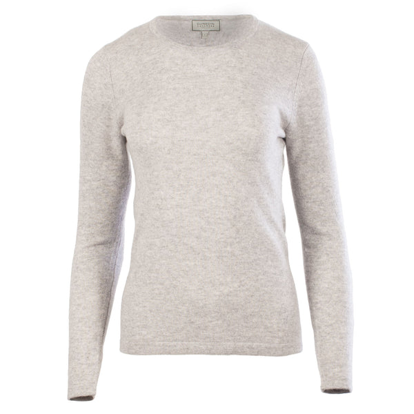 100% Cashmere Women's Fashion Crew Neck Oyster