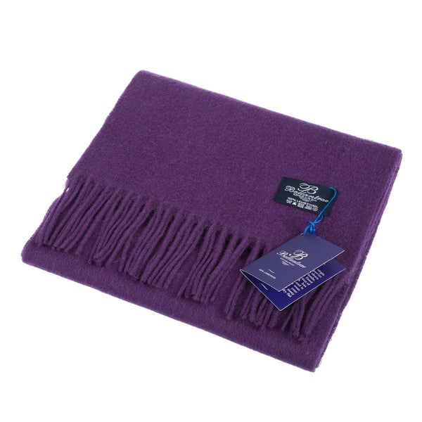 Ballantrae 100% Lambswool Tartan Scarf Purple