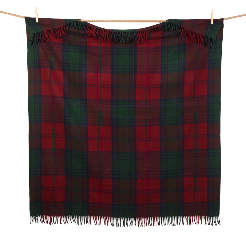 Highland Wool Blend Tartan Blanket / Throw Extra Warm Lindsay