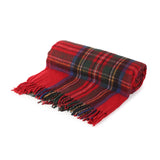 Highland Wool Blend Tartan Blanket / Throw Extra Warm Stewart Royal