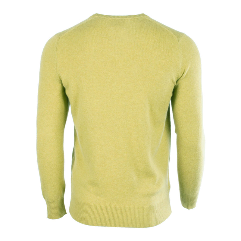 100% Baby Cashmere Men's C-Neck Jumper Siskin