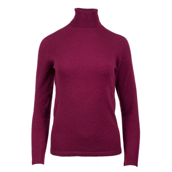 100% Cashmere Women's Fashion Roll Neck Eminence