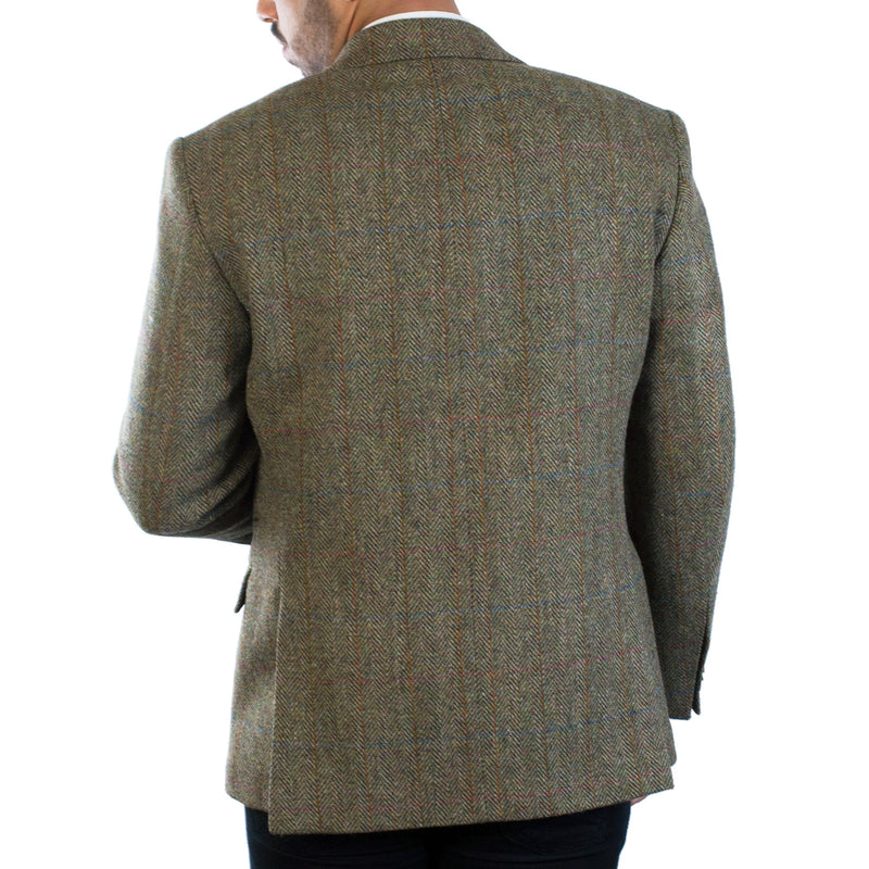 Harris Tweed Men's Barra Two Button Classic Jacket Green