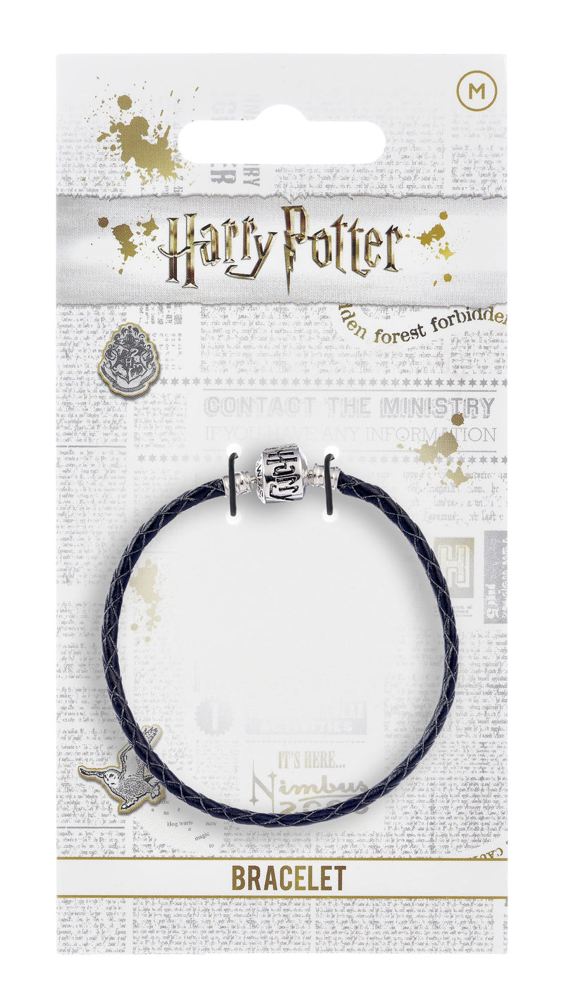 Harry Potter Black Leather Bracelet For Slider Charms - Small 18Cm