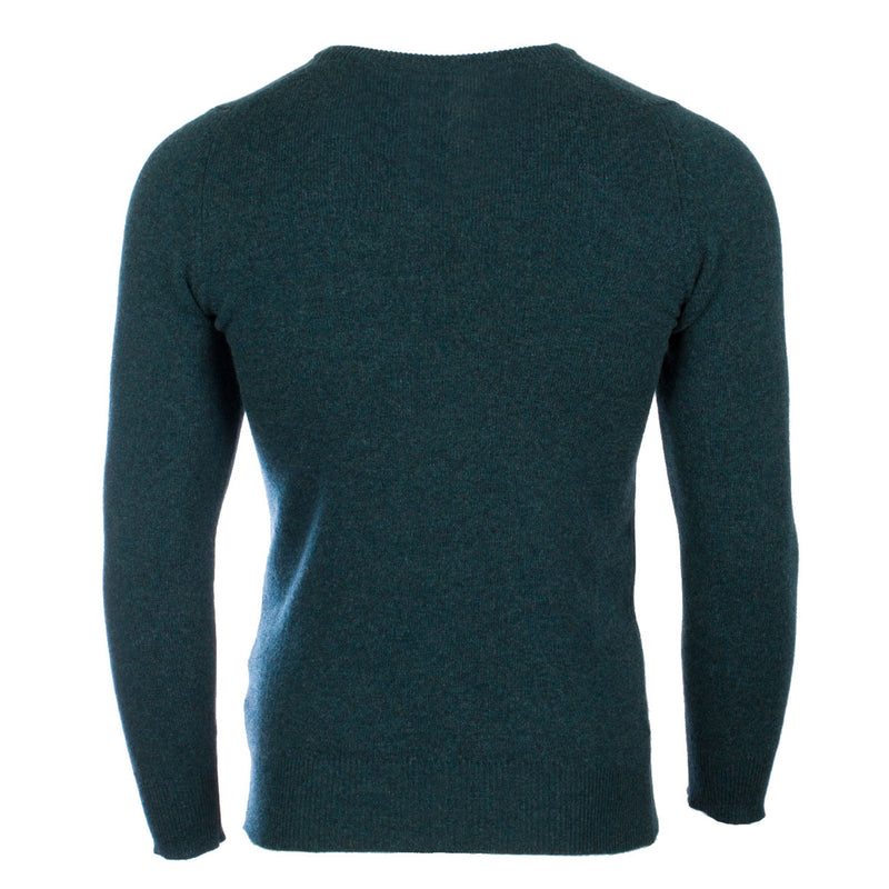 Hawick Knitwear Men's V-Neck Plain Cashmere Jumper Lugano