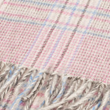 Cashmere Tweed Check Scarf Pink