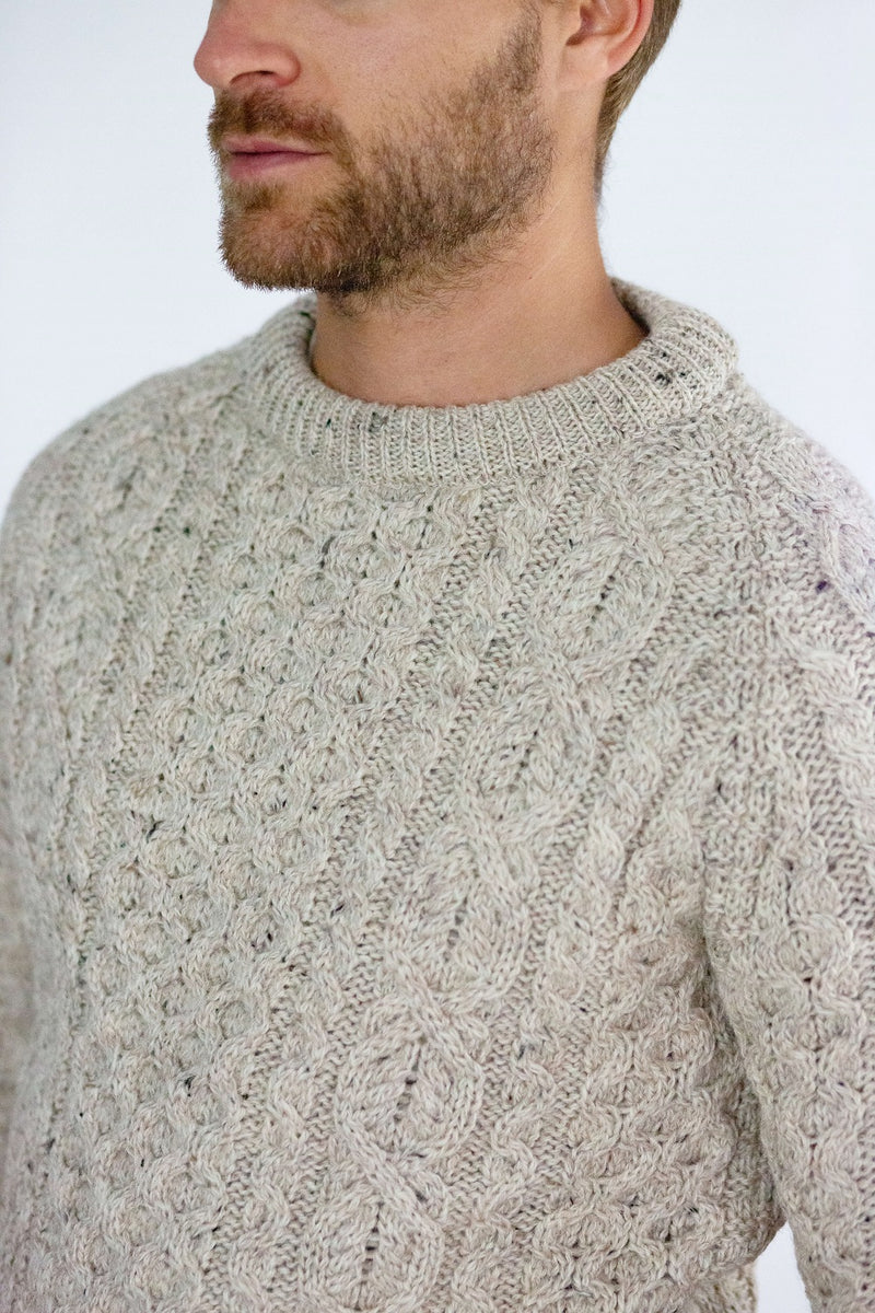 Men's Peregrine Hudson Aran Sweater Made In England Skiddaw