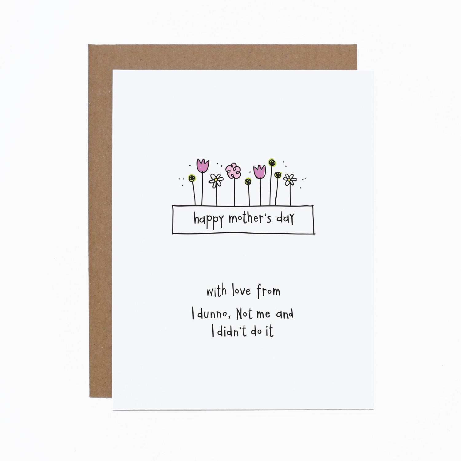 Mother's Day (I didn't do it) card