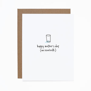 Mother's Day (we need milk) card