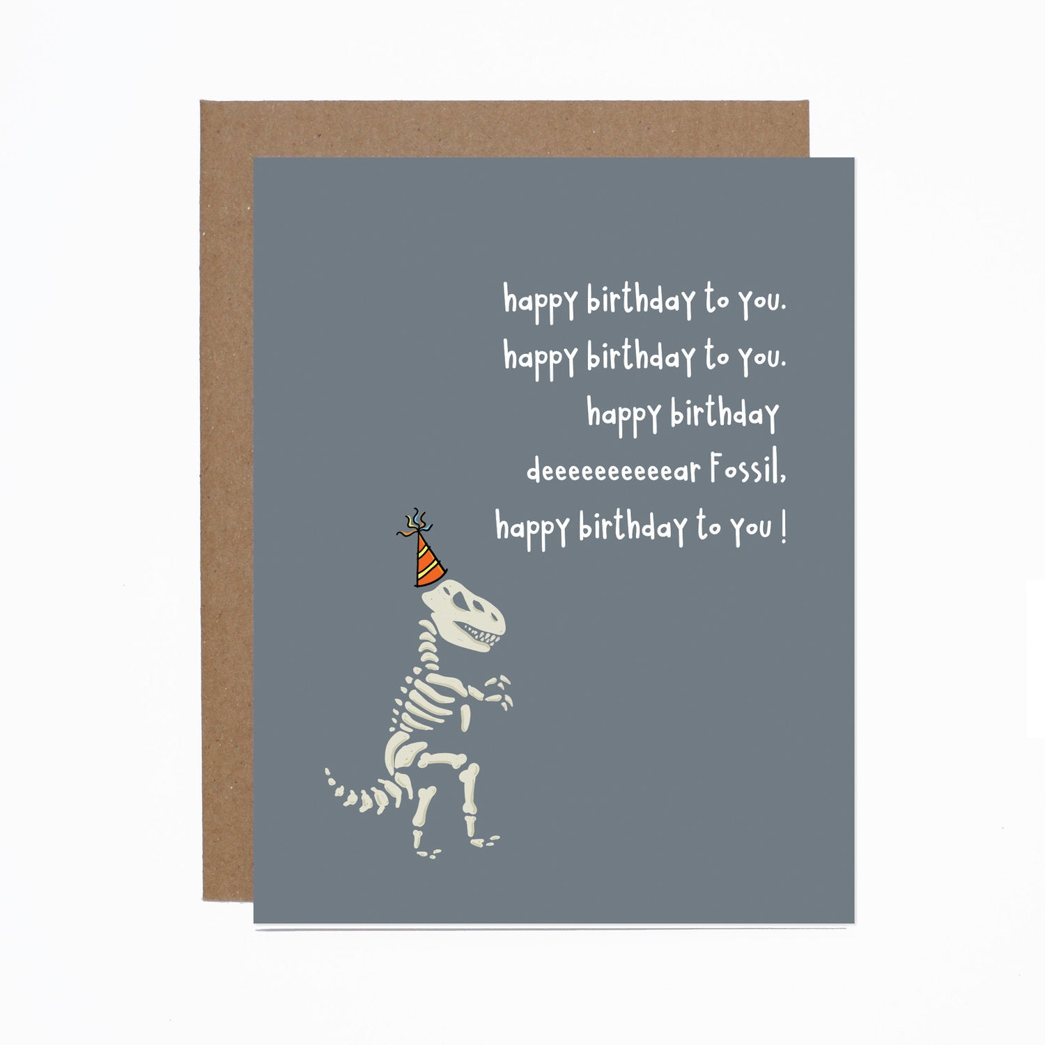 Birthday (Fossil) card