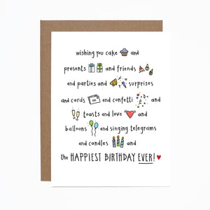 Birthday (happiest) card