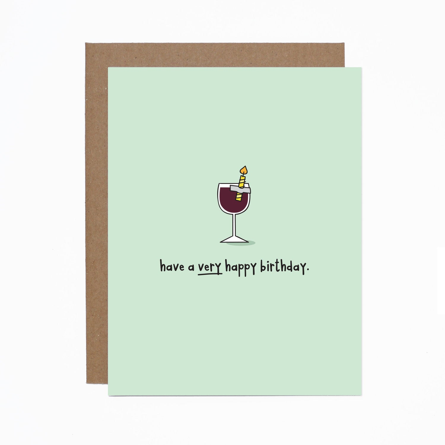 Birthday (wine) card