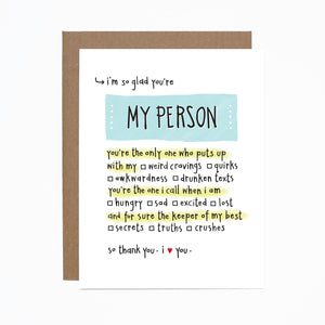 My Person card
