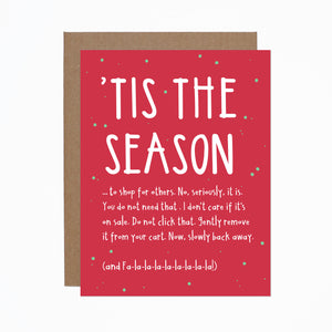 Tis the Season to Shop Christmas card