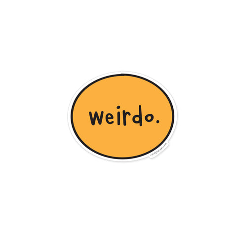 Weirdo Vinyl Sticker