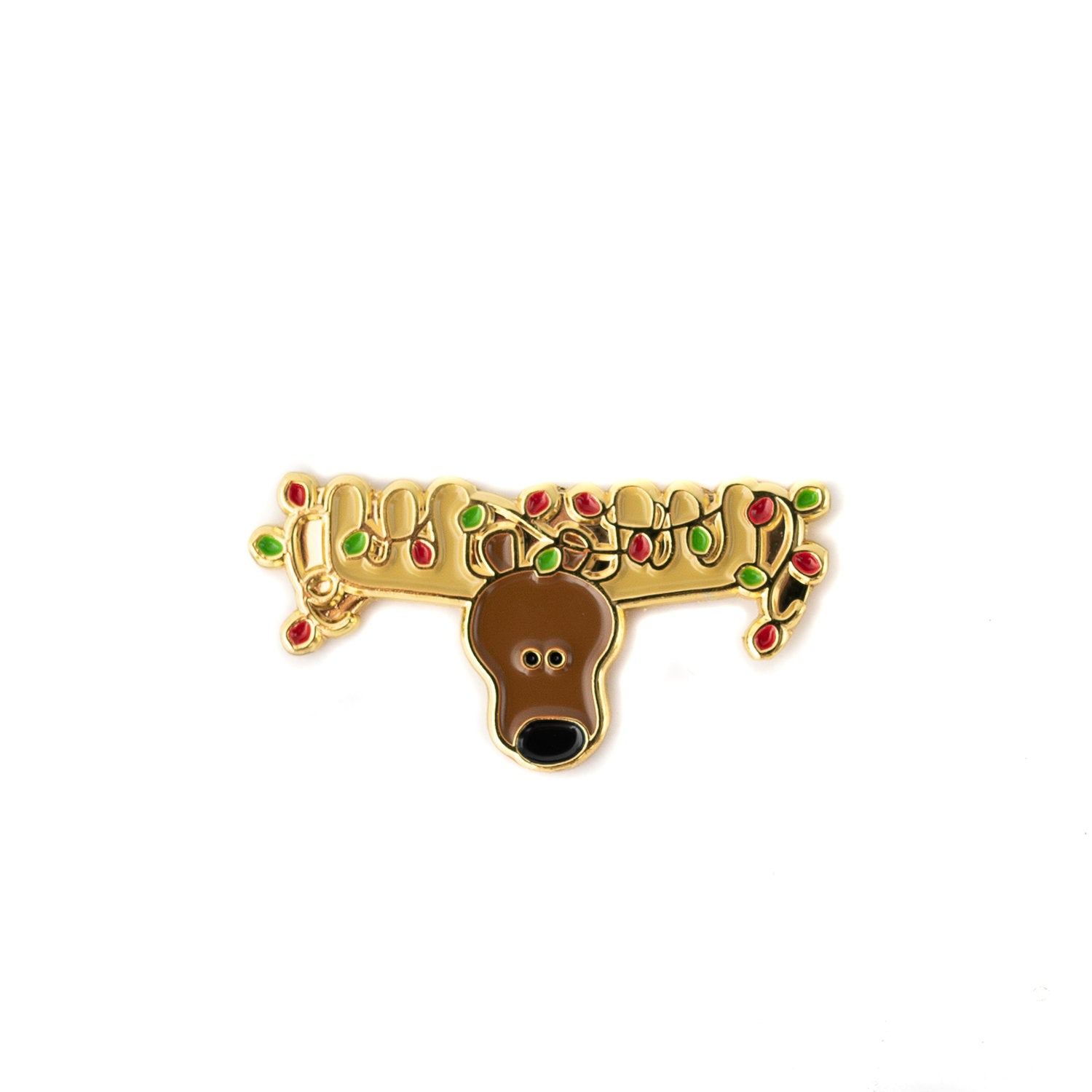 Christmoose enamel pin