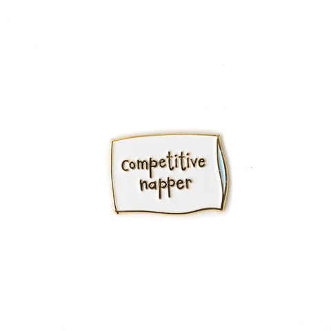 Competitive Napper enamel pin