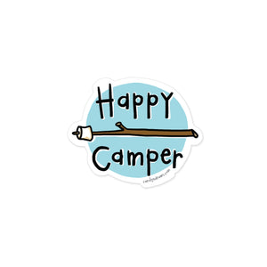 Happy Camper Vinyl Sticker