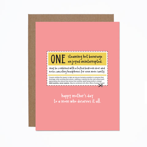 Mother's Day (coupon) card