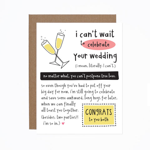 Wedding Postponed card