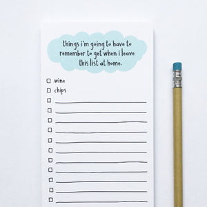 Funny Grocery List Notepad