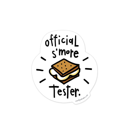 S'more Tester Vinyl Sticker