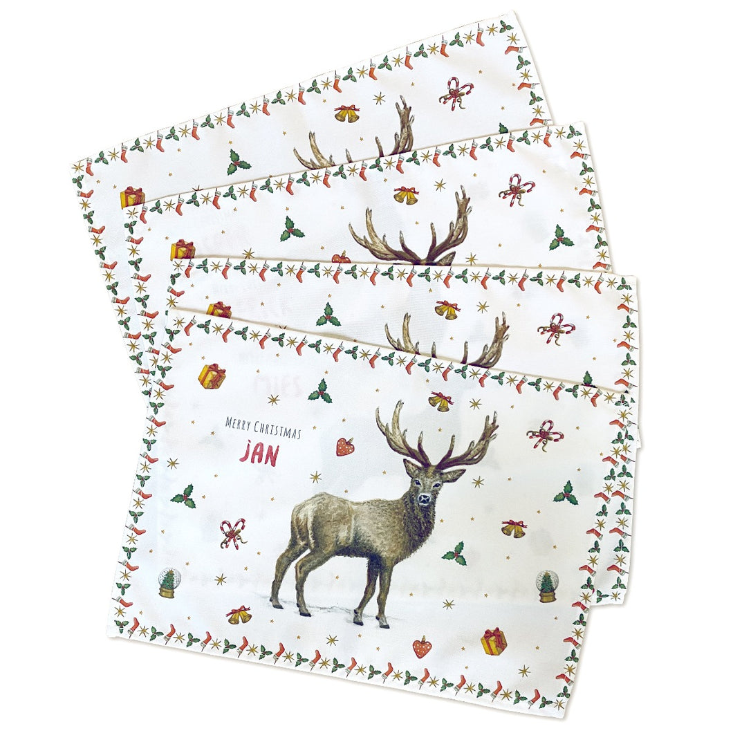 Mies to Go kerst placemats 4 stuks