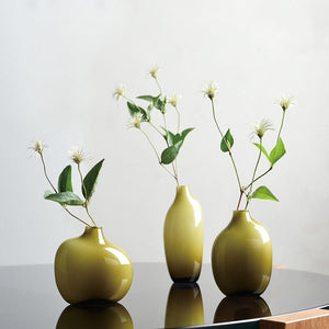 Vase SACCO en verre 03 (Green, Brown, Gray)
