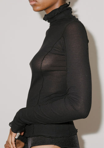 BASERANGE Omato Turtleneck Black