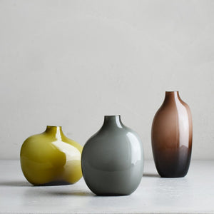 Vase SACCO en verre 02 (Green, Brown, Gray)