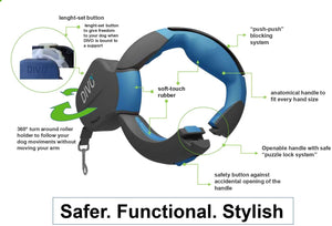 DIVO® retractable dog leash
