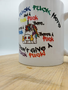 Adult Only!!! F*ck You Unicorn Coffee Mug, Can Be Personalized with Name