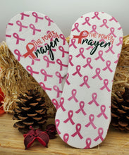 Load image into Gallery viewer, Power of Prayer No Show Cancer Awareness Socks - Double Sided Print - Can be personalized and custom made