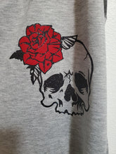 Load image into Gallery viewer, Skull Rose Glitter Ladies Tank, #ridingfree, Biker Ladies Tank Top
