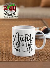 Cargar imagen en el visor de la galería, Aunt Life Is The Best Coffee Mug - Home of Buy 3, Get 1 Free. Long Lasting Custom Designed Coffee Mugs for Business and Pleasure. Perfect for Christmas, Housewarming, Wedding Party gifts