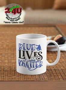 Blue Lives Matter Coffee Mug - Home of Buy 3, Get 1 Free. Long Lasting Custom Designed Coffee Mugs for Business and Pleasure. Perfect for Christmas, Housewarming, Wedding Party gifts