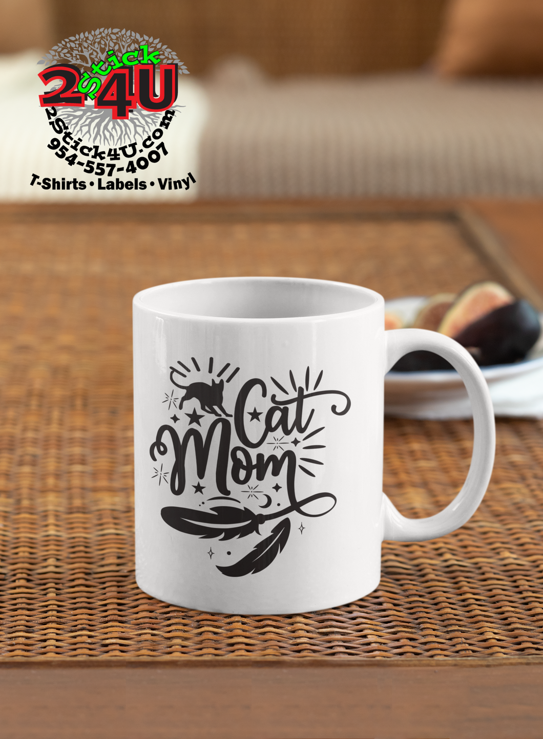 Cat Mom Coffee Mug - Home of Buy 3, Get 1 Free. Long Lasting Custom Designed Coffee Mugs for Business and Pleasure. Perfect for Christmas, Housewarming, Wedding Party gifts
