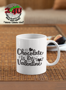 Chocolate Is My Valentine Coffee Mug - Home of Buy 3, Get 1 Free. Long Lasting Custom Designed Coffee Mugs for Business and Pleasure. Perfect for Christmas, Housewarming, Wedding Party gifts