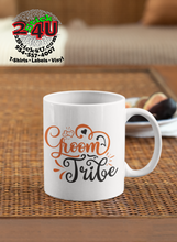 Load image into Gallery viewer, Wedding - Groom Tribe Coffee Mug - Home of Buy 3, Get 1 Free. Long Lasting Custom Designed Coffee Mugs for Business and Pleasure. Perfect for Christmas, Housewarming, Wedding Party gifts