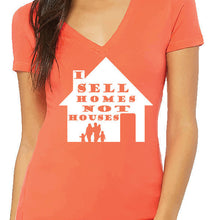Load image into Gallery viewer, I Sell Homes T-Shirt Ladies V Neck T-Shirt