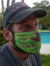 Load image into Gallery viewer, Personalized Duct Tape Face Mask . A Pocket mask that INCLUDES a free filter and adjustable ear clips. We can Add Your Name or Saying