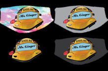 Load image into Gallery viewer, School Bus Face Mask Color Background - Custom With Your Name