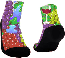 Load image into Gallery viewer, Wine Now Custom Socks, Can be personalized and created for you, customized socks perfect as a holiday gift or birthday gift. Athletic Crew