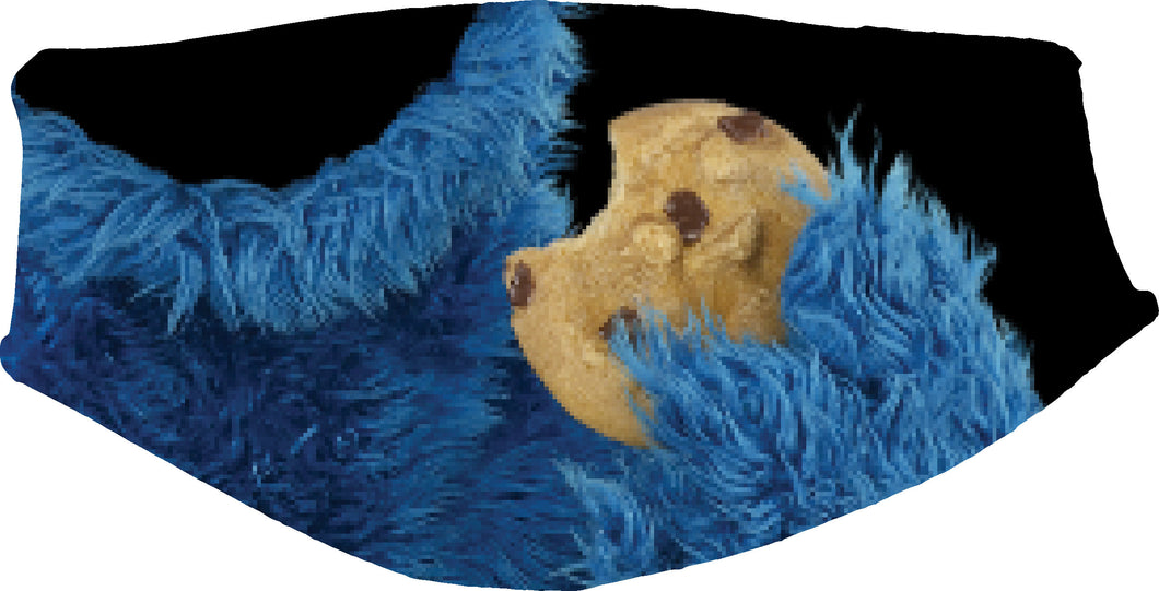 Cookie in Hand Face Cover, Custom With Your Name, 2 layer pocket with filter, adjustable ear clip, personalized & washable, reusable