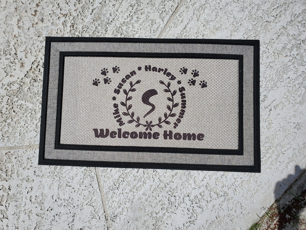Custom Door Mat - Welcome Home - Pet Lover Door Mat - Cat & Dog Person, Custom Home Decor, Indoor/Outdoor Mat, Personalized, 18x30 inch